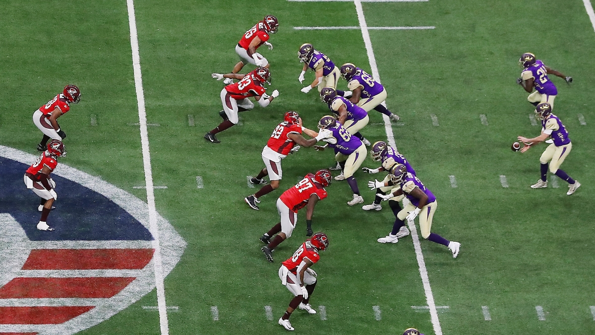 Who is the AAF serving by restricting defensive player movement?